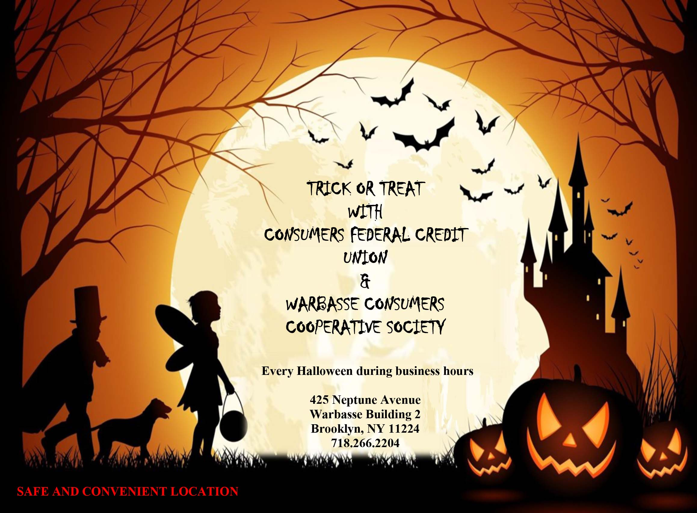Trick or Treat with Consumers Federal Credit Union